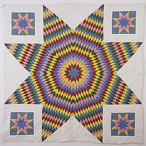 Star Of Bethlehem Quilt: Circa 1860; Pennsylvania