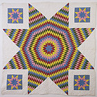 Star Of Bethlehem Quilt: Circa 1860; Pennsylvania