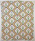 Tulips Quilt: Circa 1930; Pennsylvania