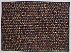 Tumbling Blocks Quilt: Circa 1870; Pennsylvania