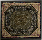 Hooked Rug - Octagon Pattern: circa 1920