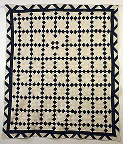 Nine Patch Quilt ; Circa 1880; Pennsylvania