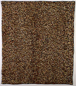 Prairie Points Quilt: Circa 1880