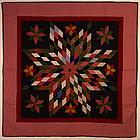 Star of Bethlehem Quilt: Circa 1880; Pennsylvania