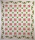 Baskets Quilt: Circa 1870; New York State