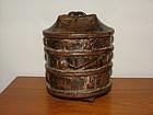 Ancient Kuba Wood Vessel