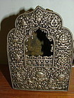 Pierced Tibetan Silver Amulet Container