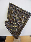 Large 18 Th C Gilt Bronze Nepal Panel