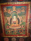 18th C. Tibetan Thangka of Buddha