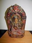 17th C Nepal Wood Tara
