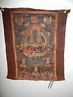 17th C Tibetan Thangka of Green Tara
