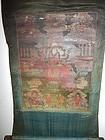 18th C Tibetan Thangka of a Deity Riding a Horse