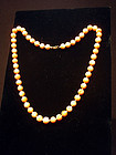 Natural Coral Bead Necklace 53 Beads