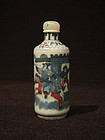 Porcelain Snuff Bottle 3 Kingdoms 19th Century