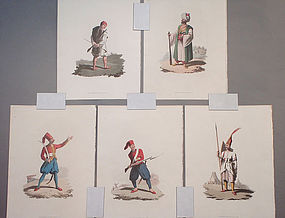 Military Costume of Turkey - Soldiers 5 Prints