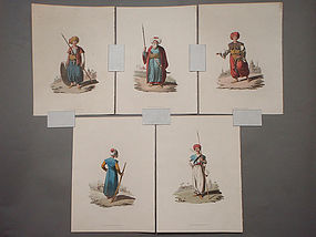 Military Costume of Turkey - Mamelukes 5 Prints