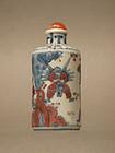 3 Color Porcelain  Snuff Bottle with Monkey King