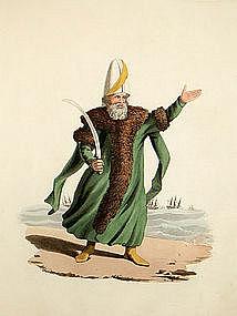 Military Costume of Turkey Captain Pacha