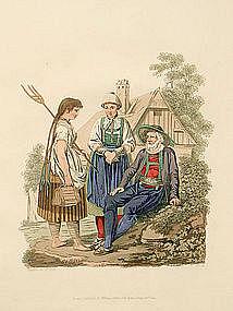 Costume of Austria Inspruck Peasants 1804