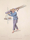 Costume of China Print of a Pipe Seller 1800