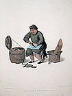 Costume of China Antique Print of a Shoemaker
