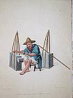 Costume of China Antique Print - Mender of Porcelain