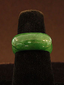 Green Jadeite Saddle Ring size 9.5