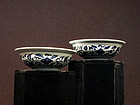 Vintage Pair Blue & White Bowls Late Qing or Republic
