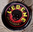 Colorful 1950 French LEBENE Wax Tin Black Child Graphic