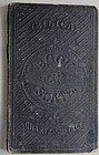 Extremely RARE 19thC Portable School Silica Book Slate