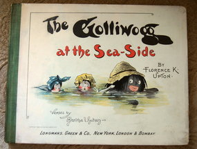 ExRare 1896 Florence Upton The Golliwoggs at SeaSide
