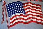 C1920 DoubleSided Felt Tobacco Premium USA Flag