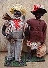 1930 Alabama WPA 2Folk Black Cloth Dolls Fisherman Lady