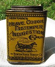 Rare Veterinary Horse Remedy Cure Tin Great Graphics