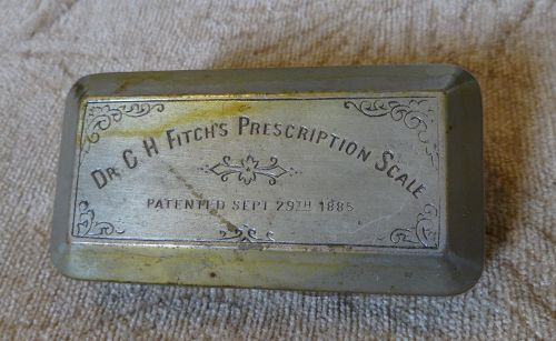 Dr. Fitch's 1885 Prescription Pharmacy Drugstore Scale