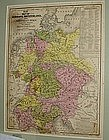 1840 Framed Atlas Map Europe Germany Switzerland Italy