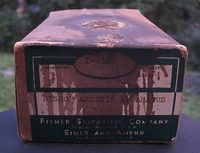 C1930 Scientific Bishop Arsenic Chemist Apparatus w/box