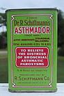 C1930s Schiffmanns Asthma Remedy Pharmacy Drugstore Tin