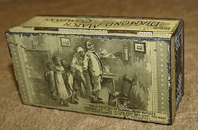 C1900 ExRare Diamond Match Co Box Black Memorabilia