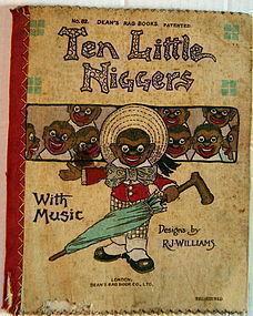 VERY RARE C1904 Deans Rag Book TEN LITTLE NIGGERS