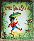 Wonderful 1950 LITTLE BLACK SAMBO Book Whitman Pub