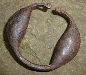 RARE Authentic 19thC SLAVE Trade Child Rattle Shackle Shackles