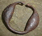 RARE Authentic 19thC SLAVE Trade Child Rattle Shackle