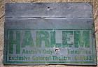 C1920 Jim Crow Segregation Sign HARLEM Colored Theater