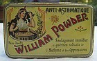 FAB 19thC Williams Matches Asthma Cure Drugstore Tin