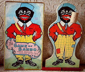 C1921 Parker Bros Southern Darkey GAME of BLACK SAMBO