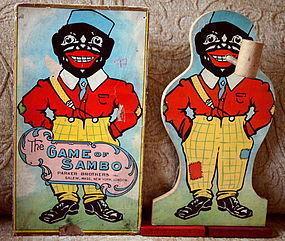 C1921 Parker Bros Southern Darkey GAME of BLACK SAMBO