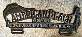 1930s AMERICAN BEACH Negro Ocean Playground Auto Sign