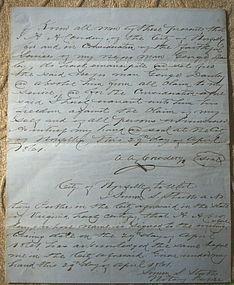RARE 1861 Civil War Slave Manumission Document Virginia