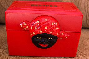 Black Memorabilia RED Aunt Jemima Fosta Recipe Box